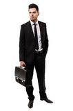 Young businessman holding a briefcase Royalty Free Stock Image