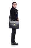 Young businessman holding briefcase isolated on Royalty Free Stock Image