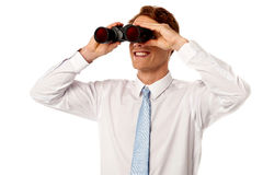 Young businessman hunting talents Stock Image