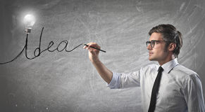 Young Businessman Idea Royalty Free Stock Image