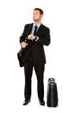 Young businessman impatient Royalty Free Stock Photography