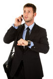 Young businessman impatient Stock Photography