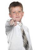 Young businessman indicates finger on you Royalty Free Stock Photos