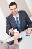 Young businessman at the interview Royalty Free Stock Photo