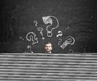 Free Young Businessman Is Thinking About Complicated Questions. Royalty Free Stock Photos - 53279888