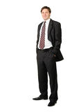 The young businessman isolated Royalty Free Stock Images