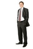 The young businessman isolated on a white Royalty Free Stock Photography