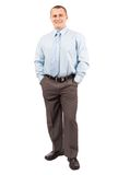 Young businessman isolated on white Stock Photo