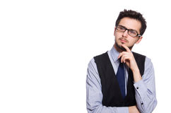 Young businessman isolated on white Royalty Free Stock Images