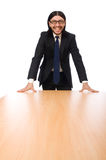 The young businessman isolated on white Stock Photography