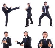 The young businessman isolated on the white background Royalty Free Stock Photos