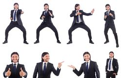The young businessman isolated on the white background Royalty Free Stock Image