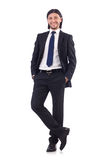 Young businessman isolated on the white background Royalty Free Stock Images