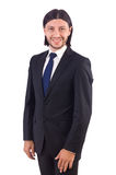 Young businessman isolated on the white background Stock Photo