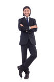 Young businessman isolated on the white background Stock Photos