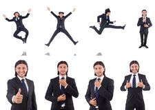 The young businessman isolated on the white background Stock Photos