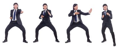 The young businessman isolated on the white background Stock Image