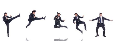 The young businessman isolated on the white background Royalty Free Stock Photo