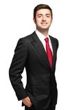 Young businessman isolated on white Royalty Free Stock Photos