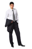 Young businessman with jacket in hand Royalty Free Stock Photo