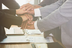 Businessman Team In Suit Touching Hands Together ... |Touching Hands Together