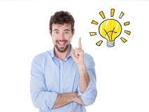 Young businessman just had a good idea Stock Image