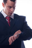 Young businessman is late for meeting Royalty Free Stock Images