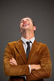 Young businessman laughing. Royalty Free Stock Photography