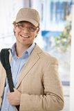 Young businessman leaving office Royalty Free Stock Photo