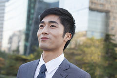 Young Businessman  Looking away Stock Photography