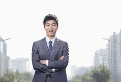 Young Businessman  Looking at Camera Royalty Free Stock Images