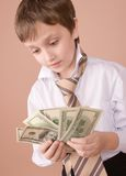 Young businessman looking on m Royalty Free Stock Photos