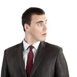 Young businessman looking sideways Stock Images