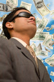 Young Businessman looking up stock image