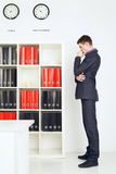 Young Businessman Lost In Thought Royalty Free Stock Photos
