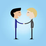 Young businessman making handshake cooperation concept Royalty Free Stock Images