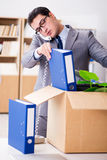 The young businessman moving offices after being made redundant Stock Images