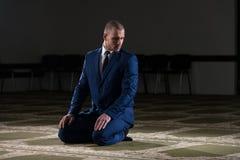 Young Businessman Muslim Praying Stock Photography