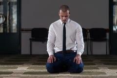 Young Businessman Muslim Praying Royalty Free Stock Photo