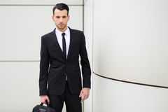 Young businessman near a office building Stock Photography