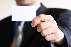 Young businessman offering businesscard Stock Photo