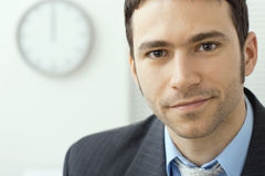 Young businessman at office Stock Image