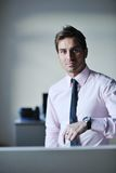 Young businessman at office Royalty Free Stock Images