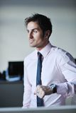 Young businessman at office Stock Photos
