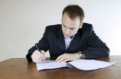 Young businessman In the office Stock Photos