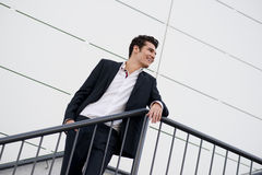 Young businessman, in an office building Stock Photos