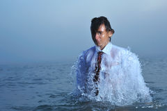 Young Businessman On Sea Royalty Free Stock Photo