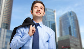 Young businessman outdoor Stock Images