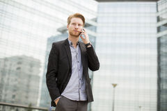 Young businessman outdoor Stock Photo