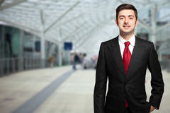 Young businessman outdoor Royalty Free Stock Photography